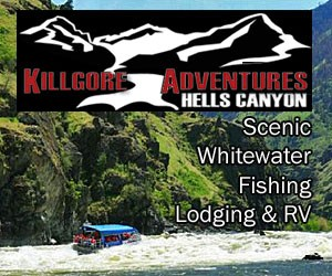 Killgore Adventures - Jet Boat or Scenic trips : Select from our quiet and leisurely scenic float to the confluence of Snake & Salmon Rivers, or a Wild Upriver adventure through big water and rapids. Affordable & fun.