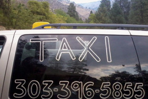 Tony's Taxi Service 303.396.5855, available 24-7