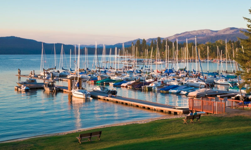 Marina on Payette Lake in McCall Idaho