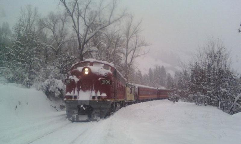 North Pole Express Train in McCall Idaho