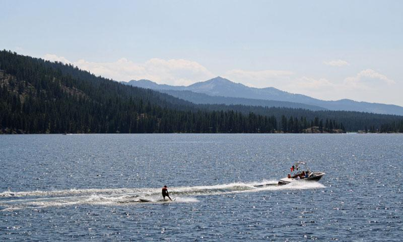 Wakeboarding on Payette Lake in McCall Idaho