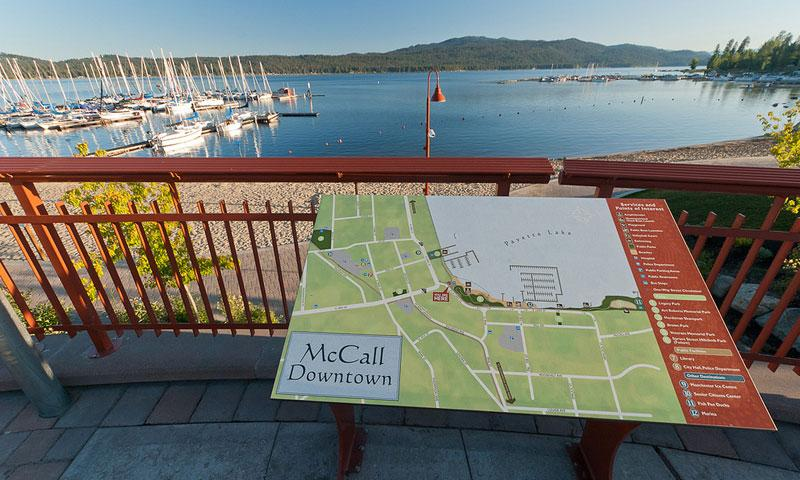 Downtown McCall overlooks Payette Lake