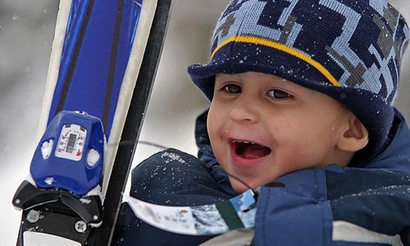 Skiing Kids Winter