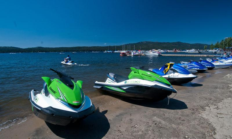 Skidoos on Payette Lake in McCall Idaho
